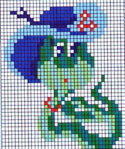 Схема вышивки крестом 'Пара журавлей'