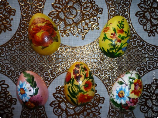 Мастер-класс, Поделка, изделие Декупаж: МК по созданию яиц- магнитов  к Пасхе Гипс, Краска, Магниты, Салфетки Пасха. Фото 1/3576489_p1010901 (520x390, 100Kb)