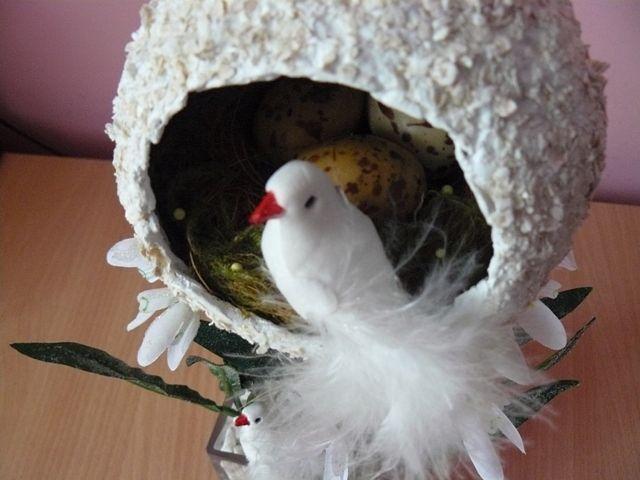 Гнездышко для птички поделка