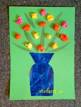 Дети аппликация ваза с цветами самое