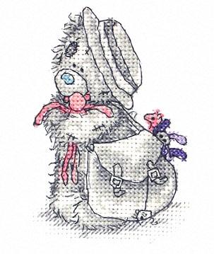 Cхема вышивки крестом Мишка Тедди - Школьница (Tatty schoolgirl) .
