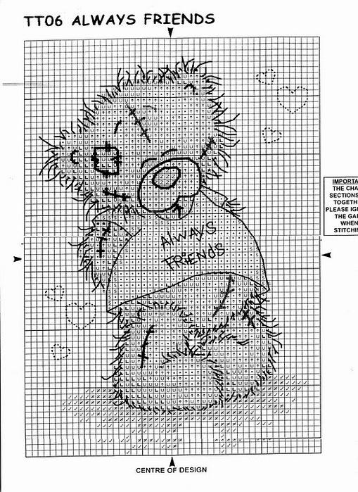 Мишки Тедди.  Вышивка крестиком.