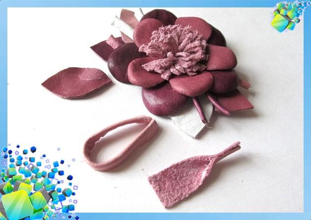 Сделать своими руками цветок из искусственной кожи
