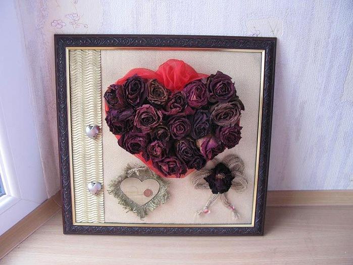 Поделки с сухими лепестками роз