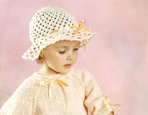 Вязание головные уборы для девочек 2
