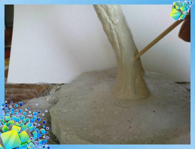 Как сделать ствол для дерева своими руками