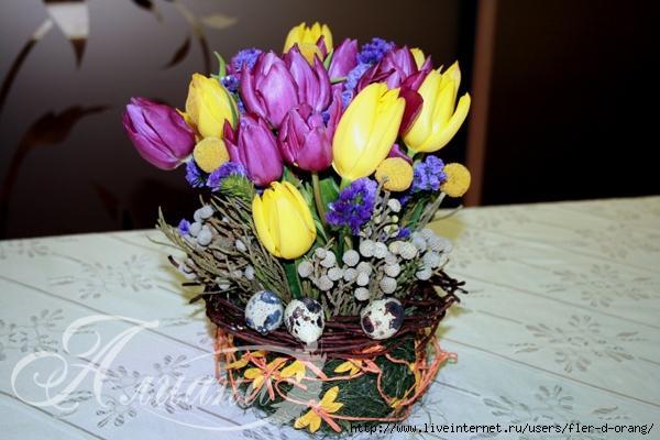 Пасхальные композиции своими руками из цветов