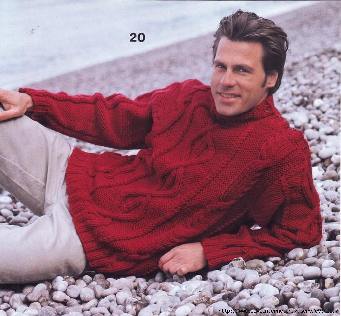 Вязание для мужчин: свитера, пуловерыи прочие модельки мужской одежды.