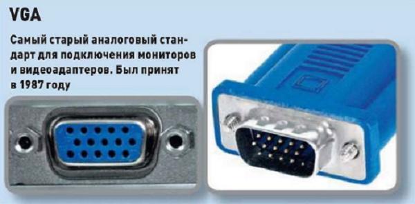 Штекер для подключения двух мониторов