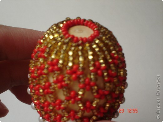 Мастер-класс Пасха Бисероплетение МК бисерные яйца Бисер фото 5.