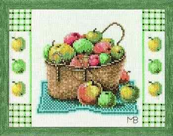 девчонки ищу схемы корзинки с фруктами lanarte яблоки, сливы и вишни.