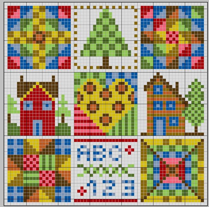 patchwork maison (700x693, 228Kb)