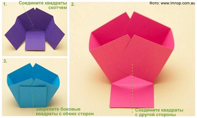 Поделка корзинка из бумаги своими руками