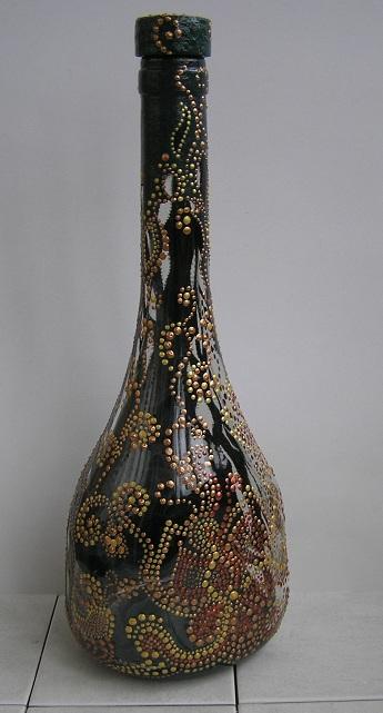 Зеленое ришелье. Бутылка (345x641, 93Kb)