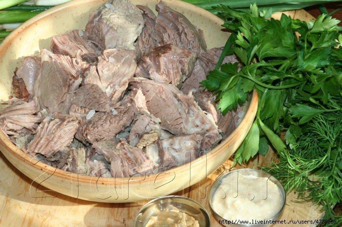 Блюда с отварным мясом рецепт с фото