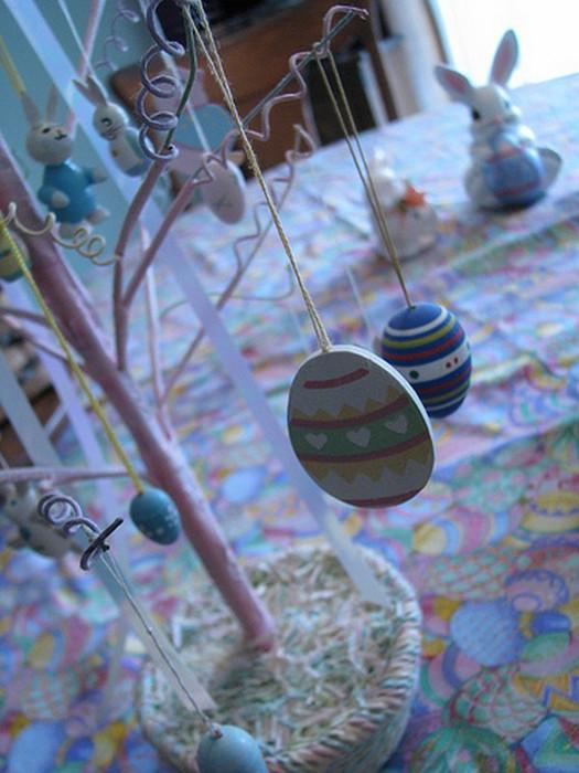 Красивые пасхальные композиции для украшения интерьера к празднику 128 (525x700, 86Kb)