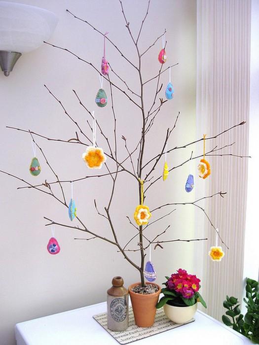 Красивые пасхальные композиции для украшения интерьера к празднику 132 (525x700, 82Kb)