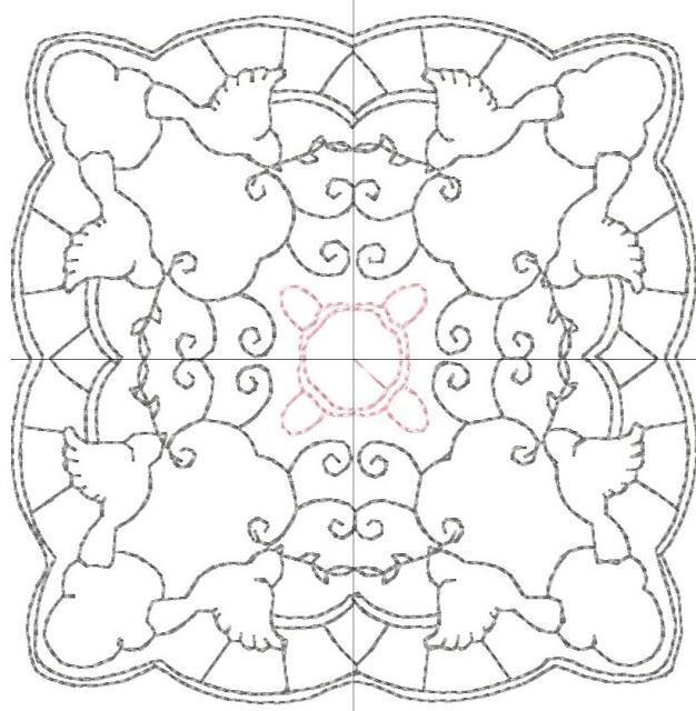 """Набор схем стежки или вышивки в технике  """"редворк """", например.  Судя по рисунку (голубки, сердечки) тематика свадебная..."""