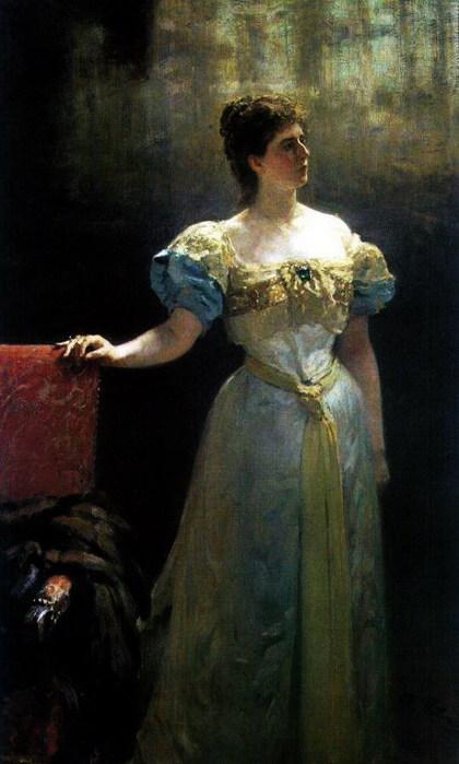 Портрет княгини М.К.Тенишевой. 1896 (420x700, 67Kb)