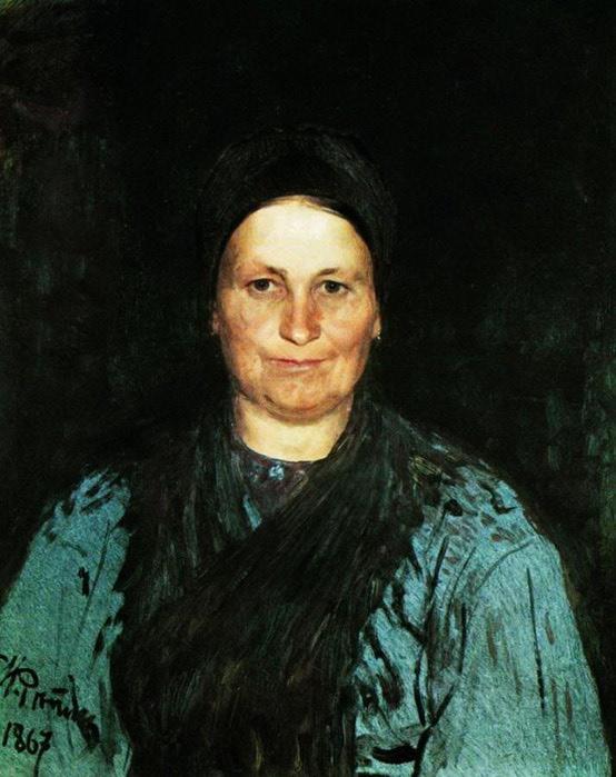 Портрет матери художника Т.С.Репиной. 1867 (554x700, 90Kb)