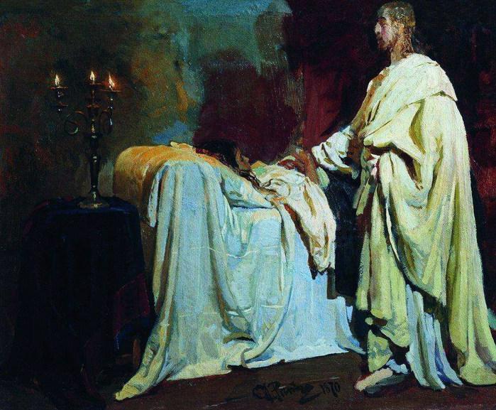 Воскрешение дочери Иаира. 1870 (700x577, 154Kb)