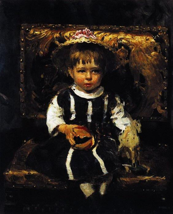 Портрет В.И.Репиной, дочери художника в детстве. 1874 (564x700, 110Kb)