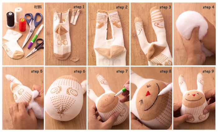 Игрушки из носков как сделать