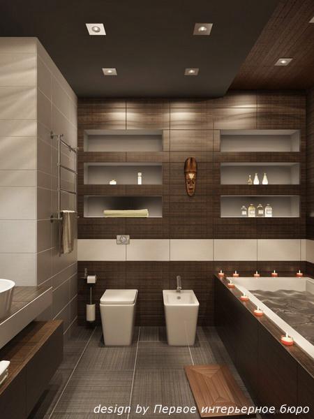 ванная комната дизайн фото коричневая