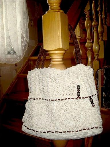 Ажурные сумки крючком со