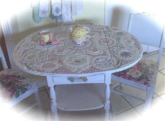 Стол с плиткой мозаикой своими руками