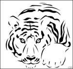 Превью leopard BW stencil (519x492, 49Kb)