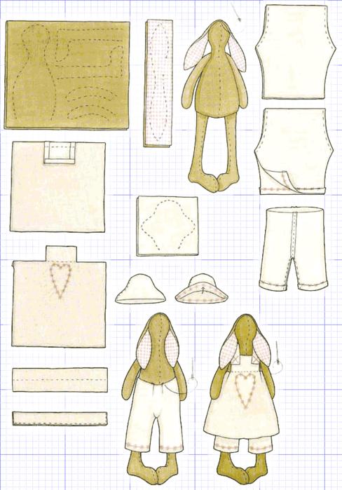 Кукла Тильды: Схема сборки