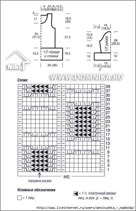 Схема вязания узелки.