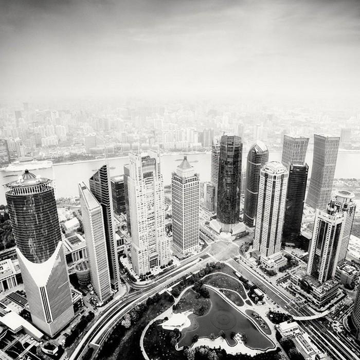 Красивые черно белые фото Шанхая от Martin Stavars 26 (700x700, 158Kb)