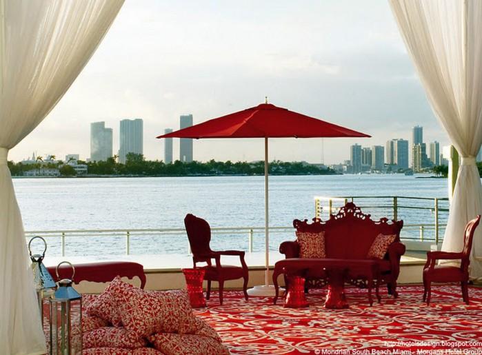 Удивительно красивый дизайн отеля Mondrian South Beach 25 (700x515, 103Kb)