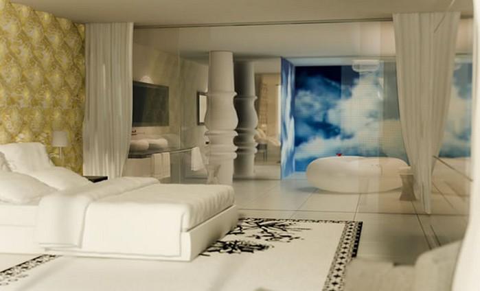 Удивительно красивый дизайн отеля Mondrian South Beach 26 (700x424, 50Kb)