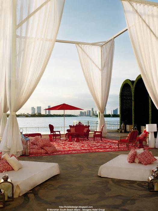 Удивительно красивый дизайн отеля Mondrian South Beach 42 (525x700, 382Kb)