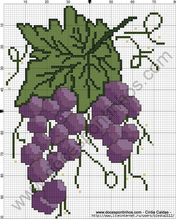 Гроздь винограда (вышивание)