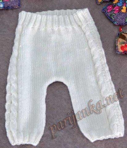 Свяжем штанишки новорожденным