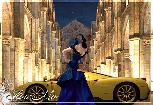 SlowMo, Pphotoshop, Templates for photoshop, Psd, Psd-исходники, Наряды, Костюмы, Шаблоны, Для фотошопа, Для фотомонтажа, Фотошаблоны, Фотомонтаж, Девушка, Машина, Платье, Ламборджини, Blue dress,  Girl, Lady, Lamborgini, Синее/1334685956_Lady_in_Blue_Cover (500x344, 75Kb)