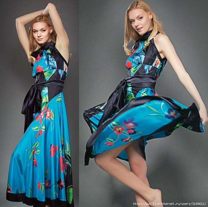 выкройки платья для полных