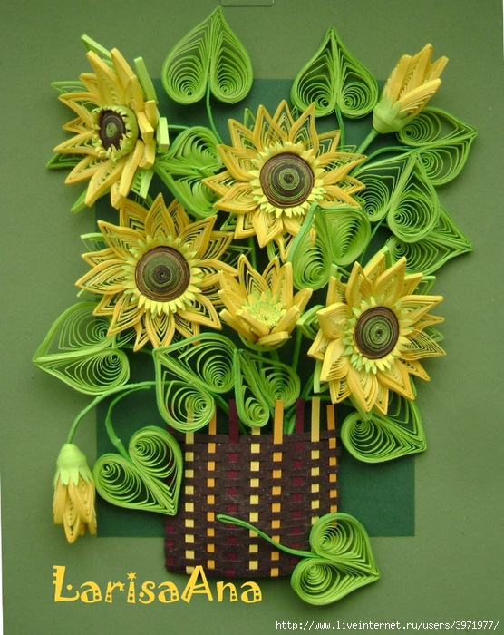 Квиллинг букеты цветов картинки 8