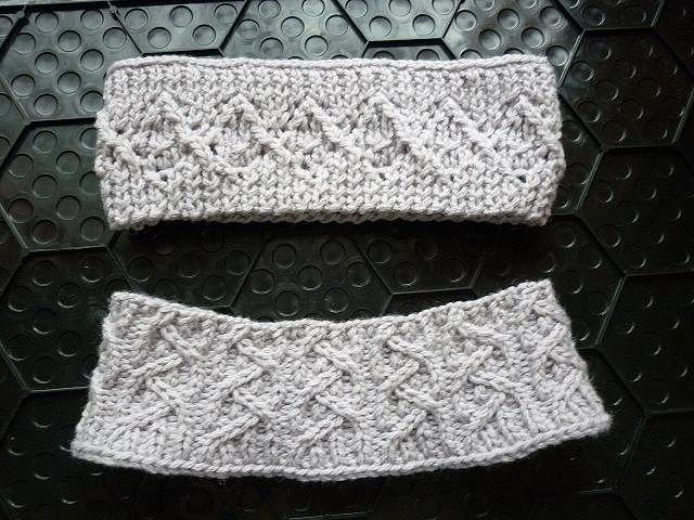 Вязание спицами повязки на