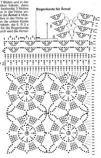 Летняя вязаная юбка цвета морской волны-sxema 2 (327x512, 72Kb)