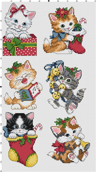 Dimensions08519-Christmas_Kittens_Ornaments (337x600, 93Kb)