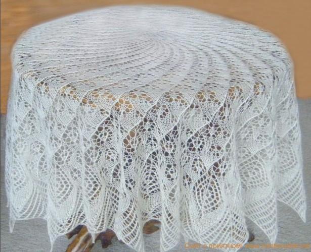 Схема для вязания паутинки спицами схемы 6