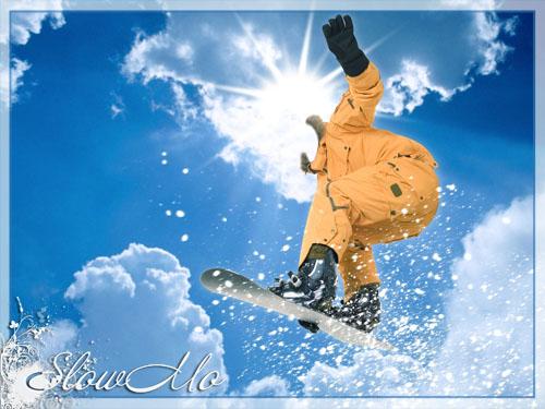 SlowMo, Pphotoshop, Templates for photoshop, Psd, Psd-исходники, Наряды, Костюмы, Шаблоны, Для фотошопа, Для фотомонтажа, Фотошаблоны, Фотомонтаж, Сноубордер, Сноубордист, Снег, Небо, Прыжок, Sky, Snow, Jump, Snowboarder, Board, Fly, Полет/1334860923_SnowBoarder (500x375, 76Kb)