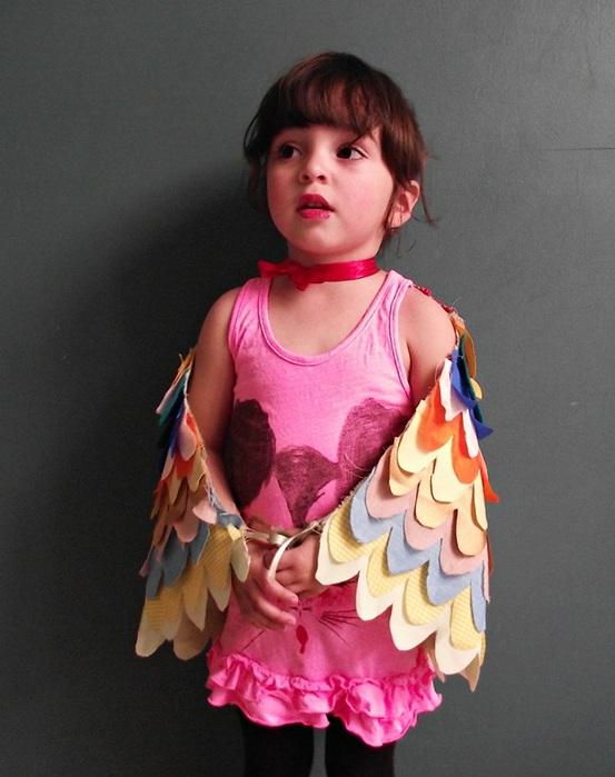 Как сшить крылья для костюма птицы своими