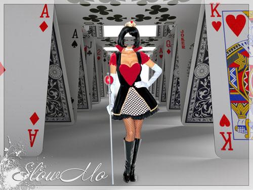 SlowMo, Pphotoshop, Templates for photoshop, Psd, Psd-исходники, Наряды, Костюмы, Шаблоны, Для фотошопа, Для фотомонтажа, Фотошаблоны, Фотомонтаж, Карты, Дама, Черв, Червовая, Карточный домик, Queen, Cards, Колода, Королева/1334910009_Queen (500x376, 78Kb)