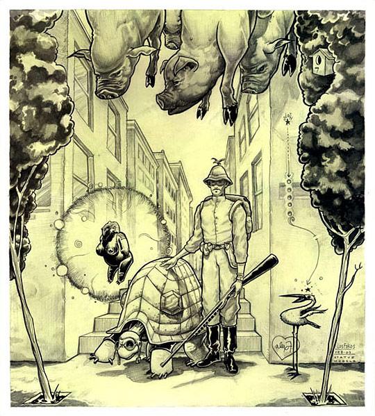Картины сюрреалистов современности 18 (540x599, 134Kb)